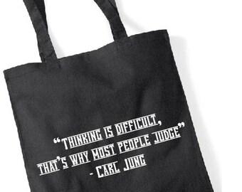 Carl Jung printed tote bag