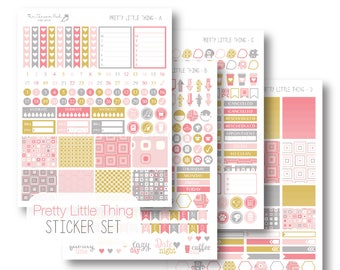 EC Pretty Little Thing Planner Stickers, Sticker Kit, Weekly, EC Vertical Planner Stickers, Sticker Set by The Clever Owl Paper Co.