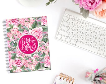 Beautiful Roses Planner Cover Personalized Monogram Dashboard Erin Condren Recollections A5 Personal Pocket Personal