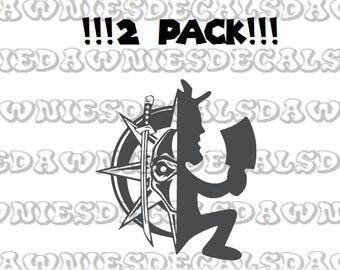 2 Pack Hatchetman Psychopathic Majik Ninja Juggalo Insane Clown Posse Twiztid Vinyl Decal Sticker