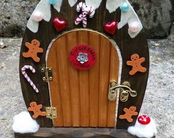 Christmas Fairy Door - Gingerbread Cottage