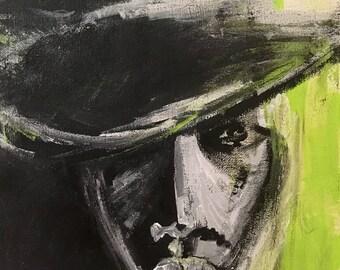 Mystery Man - Original Acrylic Painting Prints