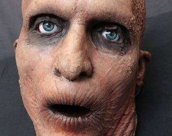 Male Zombie Head - Haunted House Halloween Prop - The Walking Dead - Rotten Corpse