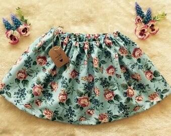 Vintage style floral skirt