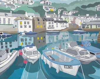 Polperro Harbour Reflections
