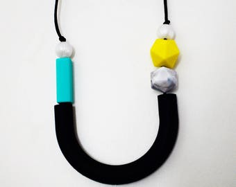 Bold statement teething necklace