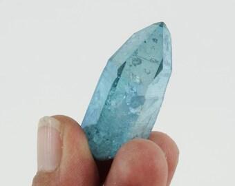 Aqua Aura Quartz Aqua aura Quartz Crystal Point Arkansas *  B028