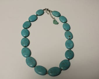 Turquoise Marble Beaded Necklace