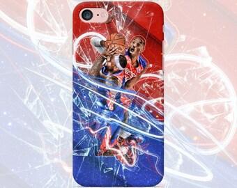 Basketball phone case iPhone 7 7 Plus 6 6s 6 plus 5 5s 5se 4 Samsung galaxy case s7 edge s7 s6 s5 s4 s3 print mobile cover sport nba art