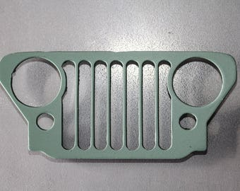 "Jeep grill 5"" Fridge magnet"