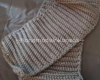Chunky Homemade Crochet Scarf