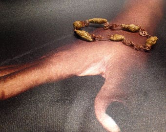 Ophelia: bracelet rose paper line.