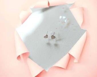 Heart Earrings | Heart Stud Earrings | Silver Heart Earrings | Small Heart Earrings | Cute Earrings | Gift for Mom | Minimalistic Jewelry