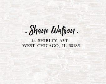 Custom Return Address Stamp S-8 Custom Stamp | Custom Address Stamp | Custom Rubber Stamp |Custom Wedding Stamp | Personal Stamp | Ink Stamp