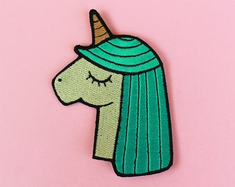 Turquoise Unicorn Patch - Iron-On Patch
