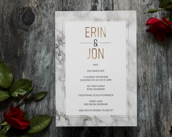 Marble wedding invitation, marble and gold foil wedding invites, marble wedding invitations, printed marble and gold wedding invitations