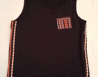 Men's Kebu African Tank, Black