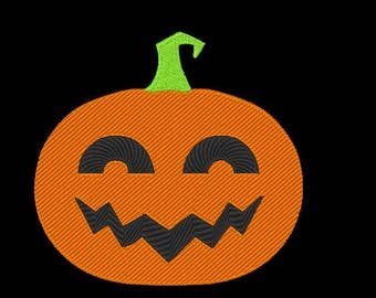 Pumpkin Embroidery Design - 4x4 & 5x7 Inches Instant Download!