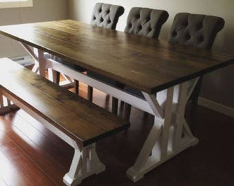 Custom 7ft Harvest Table