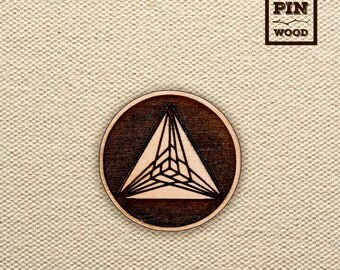 Crop Circle Wooden Pin