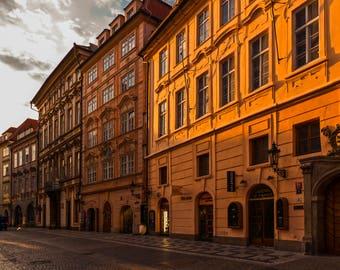 Golden Prague  - original fine art photography print- travel photography - wall decor - nature and landscape photography