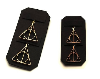 Deathly Hallows Earrings in Copper