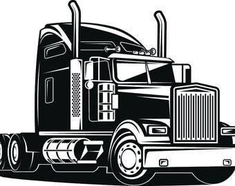 18 Wheeler~ Semi~ Cab~ Tractor -Trailer