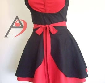 Simple irresistable Red and Black apron