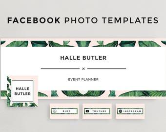 Facebook Cover Photo, Social Media Template, Facebook Timeline Design for Photoshop, Instant Download, Profile Picture Facebook Template