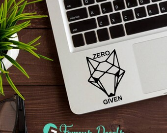 Zero Fox Given Decal, Funny Decal, Macbook Decals, Laptop Stickers, Funny Stickers, Zero Fox Given, Fox Decal, Fox Stickers, Cute Decals,