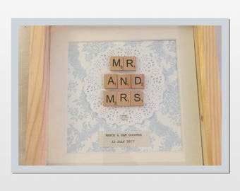 Handmade and unique personalised wedding gift