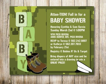 Military Baby Shower Digital Invitation