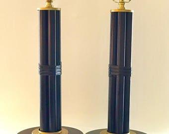 Pair of Rattan Lamps