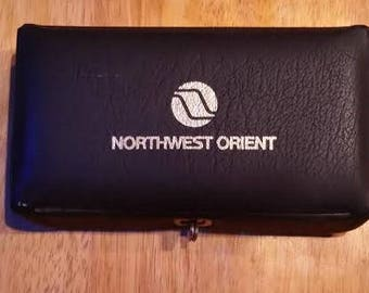 Vintage Northwest Orient Airlines men's toiletry kit