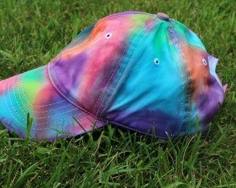 Tie Dye Hat, Rainbow Hat, Handmade