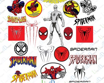 Spiderman Svg Dxf Eps Png Pdf spiderman invitation spiderman Clipart spiderman logo svg spiderman ornament spiderman gifts print cut files