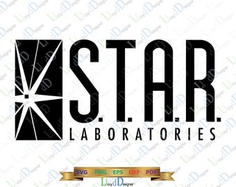 Star Lab SVG Star Laboratories Logo svg The Flash svg Star labs shirt dxf png eps pdf cut files for print silhouette cameo cricut design