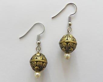 Decorative Ball Drop Earrings
