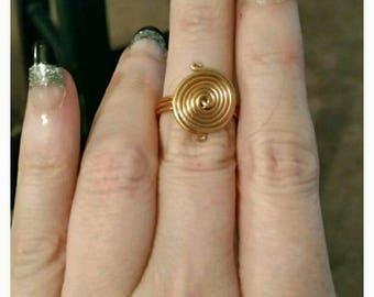 Boho Copper Wire Wrap Ring