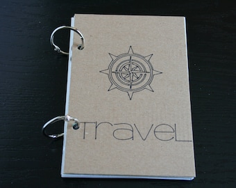 Travel Journal, Smash Book, Junk Journal, Memory Keeping, Travel with Compass