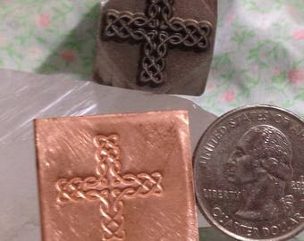 Large Cross with Celtic Knot Pattern