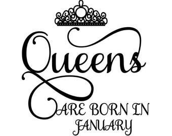 Queens are born in January SVG Crown