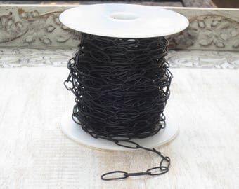 Long Cable Chain Links in Black Nite 17mmx7mm
