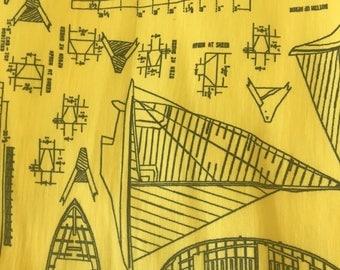 Waterproof fabric PUL, sail boats