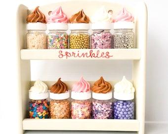 Sprinkle Rack and Sprinkle Jars