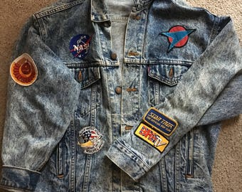 Space themed Jean Jacket