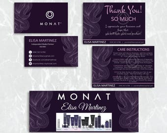Monat Starter kit, Custom Monat Business Card, Monat Hair Care, Monat Global, Monat Thank You Card, Monat Facebook, Printable Card MN19