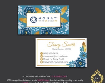 PERSONALIZED Monat Business Cards, Custom Monat Business Card, Monat Fast Free Personalization, Custom Monat Hair Care Card, Printable MN23