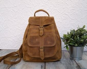 "Genuine Leather Backpack ""DORIS"" Large"