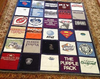 Tshirt blanket | Etsy : quilts made from tee shirts - Adamdwight.com